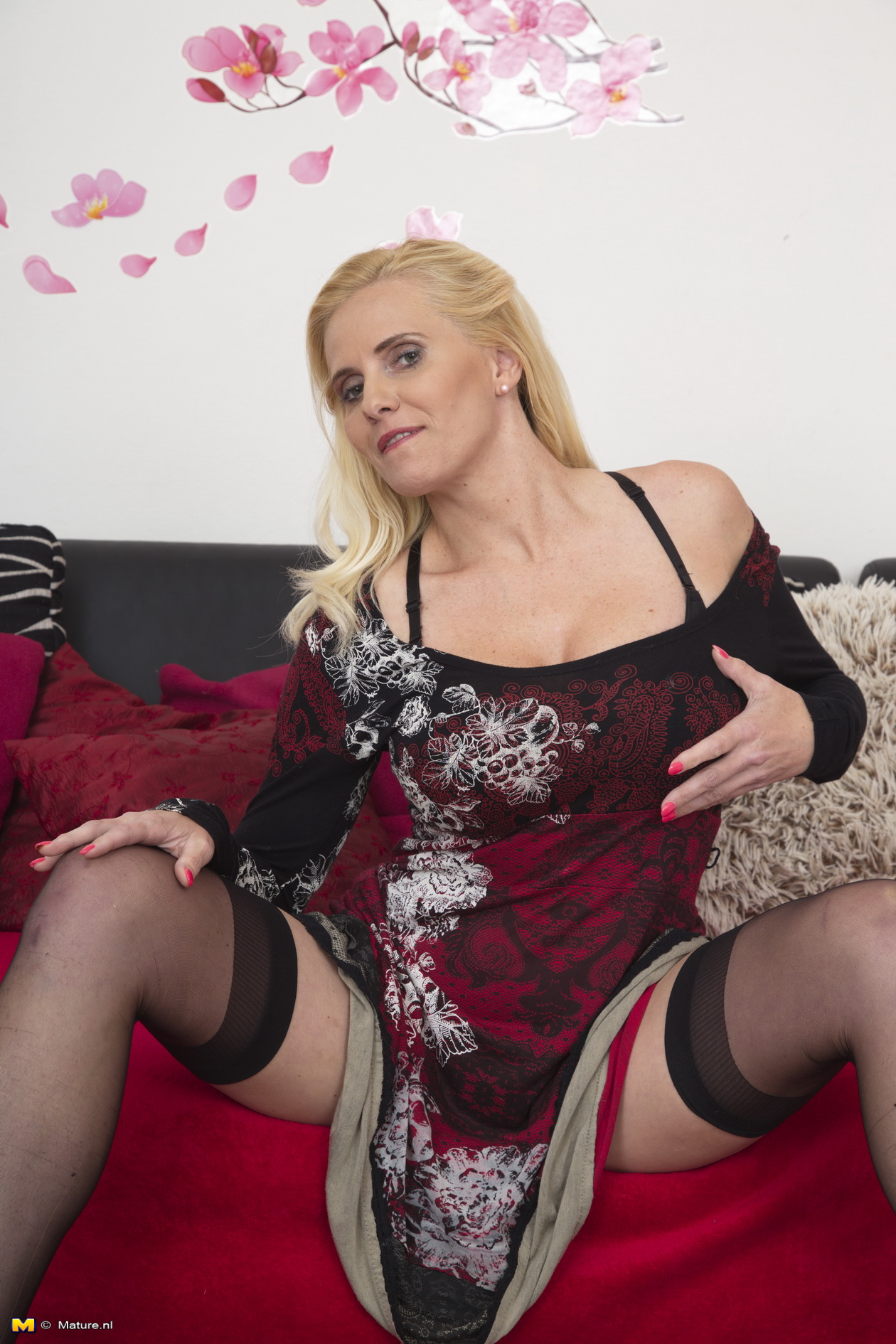 Milf stockings blonde horny