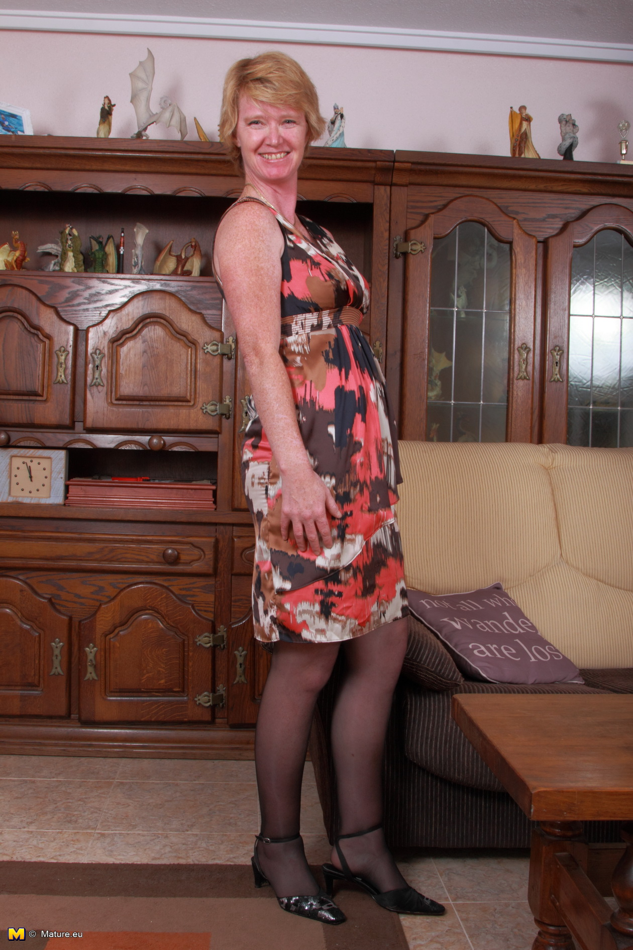Are Mature housewife in pantyhose are