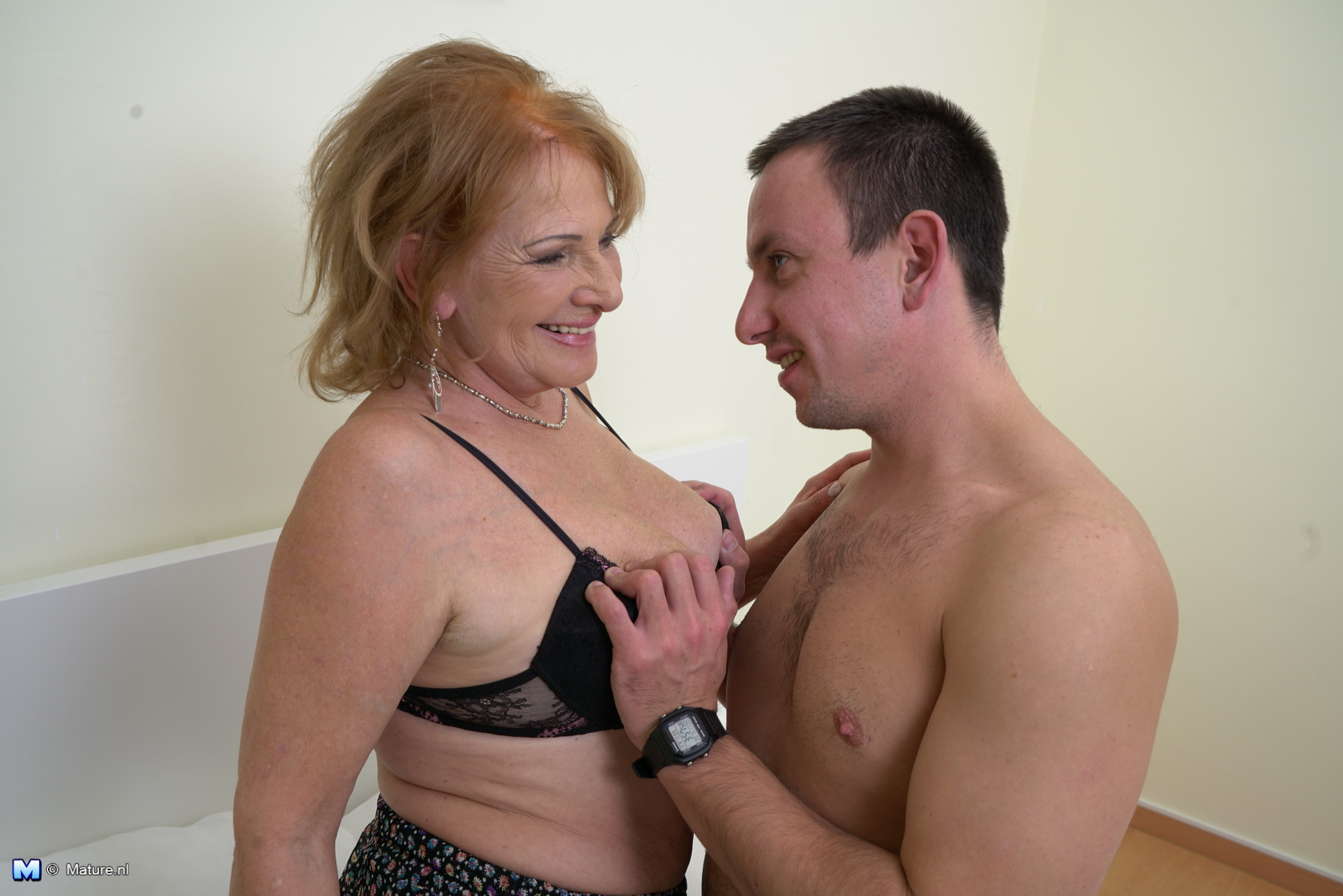 mature lady doing her toy boy
