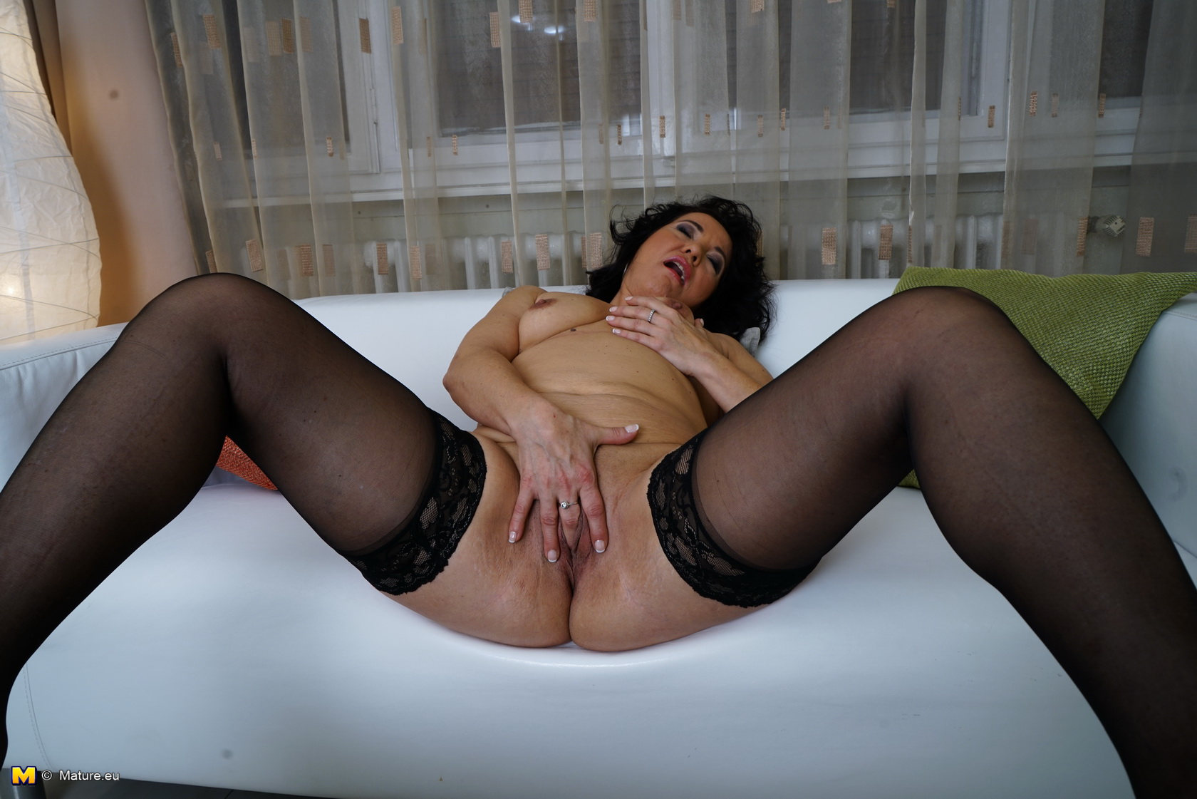 Naughty milf masturbate by the fire place
