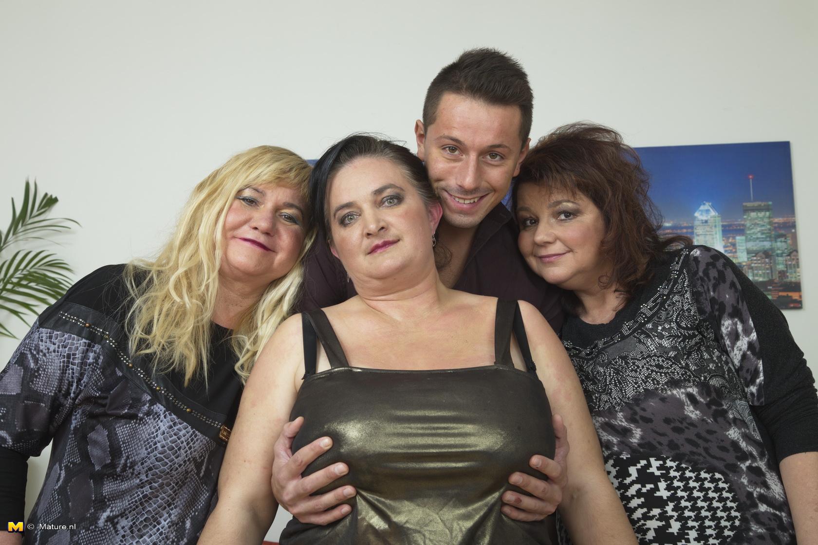 threesome Amateur shared bbw granny