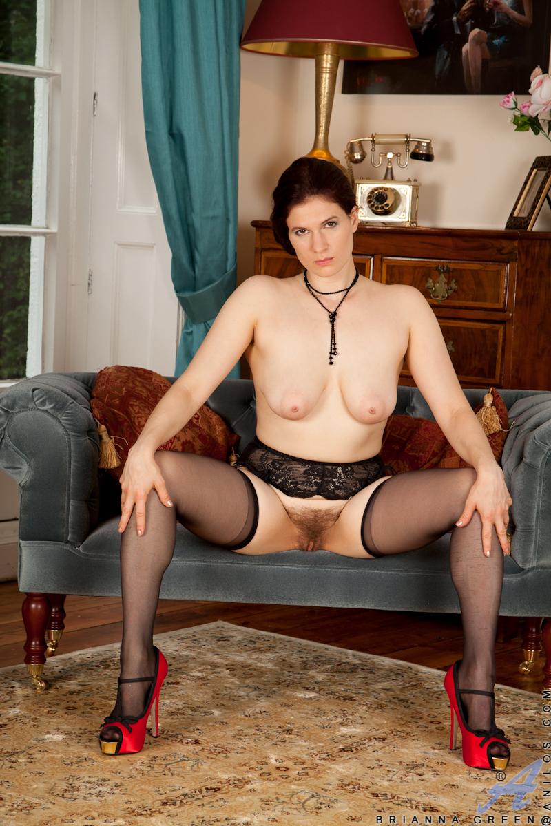 Black hairy stockings milf