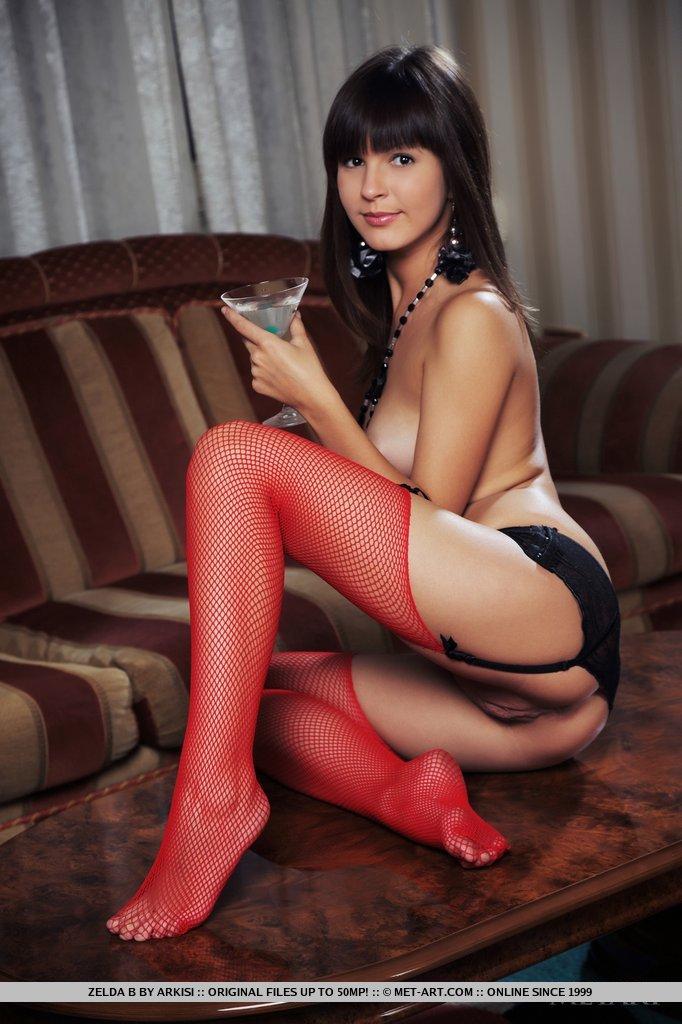 Lingerie art stockings pink